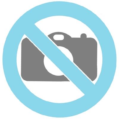 Kristall Glasurne mit Blättern